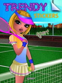 Trendy model stickers. Sport